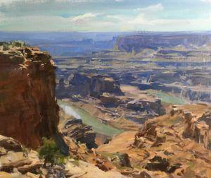 Kyle Ma, Dead Horse Point, oil, 20 x 24.
