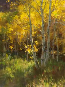 Kyle Ma, Fall in Walden, oil, 16 x 12.