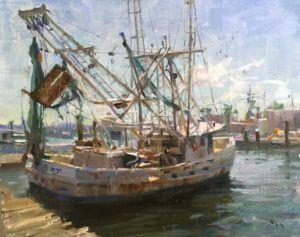 Kyle Ma, Galveston Shrimp Boat, oil, 16 x 20.