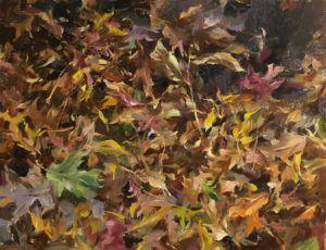 Kyle Ma, Late Autumn Forest, oil, 14 x 18.
