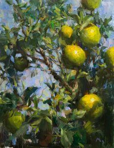 Kyle Ma, Lemon Tree, oil, 14 x 11.