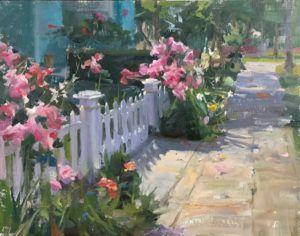 Kyle Ma, Rose Garden at Coronado, oil, 11 x 14.