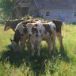 Kyle Ma, Sunlit Pastures, oil, 36 x 48.