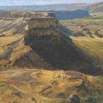 George Carlson, Umatilla Rock (2011), oil, 42 x 42.