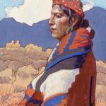 John Moyers, Indigo and Bayeta, oil, 12 x 10.
