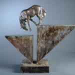 Lisa Gordon, Chasm Crossing #2, bronze, 20 x 21.