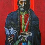 Nocona Burgess, Tachaco, acrylic, 68 x 46.