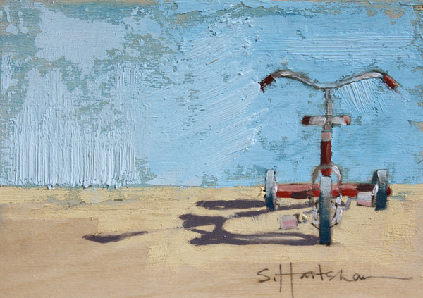 Stephanie Hartshorn, Mini Trike, oil, 5 x 7.